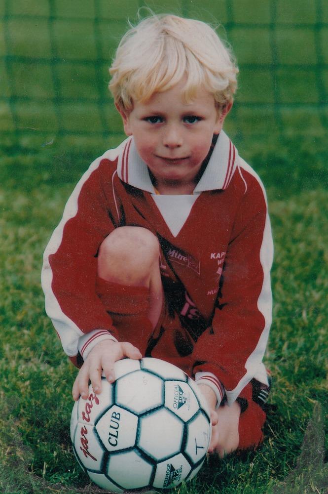 Christopher Barnard als jonge voetballer