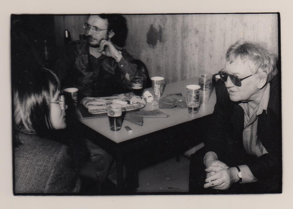 Kristien Hemmerechts, Luuk Gruwez en Hugo Claus tijdens Saint-Amour, 1991