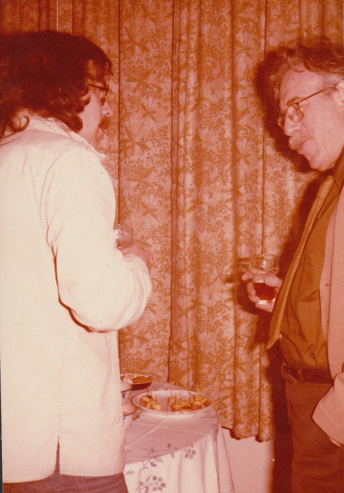 Benno Barnard en zijn vader in 1979
