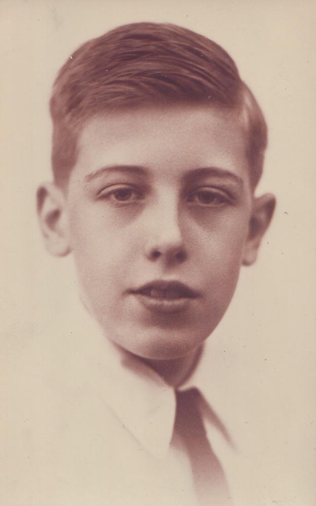 Willem Barnard op 15-jarige leeftijd / archief Barnard