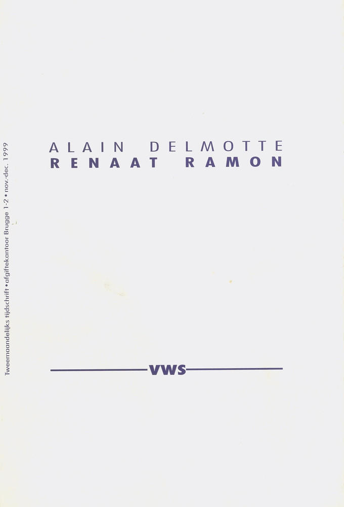 Renaat Ramon, monografie