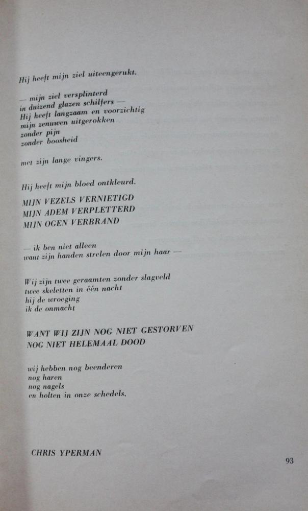 Gedicht 'Februari-Logarithmen' uit De Meridiaan - Chris Yperman