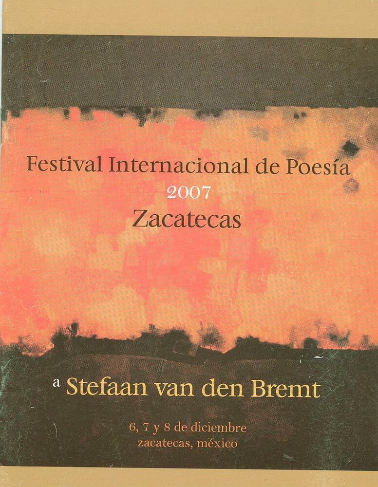 Cover festivalbrochure Festival Internacional de Poesia in Zacatecas (2007)