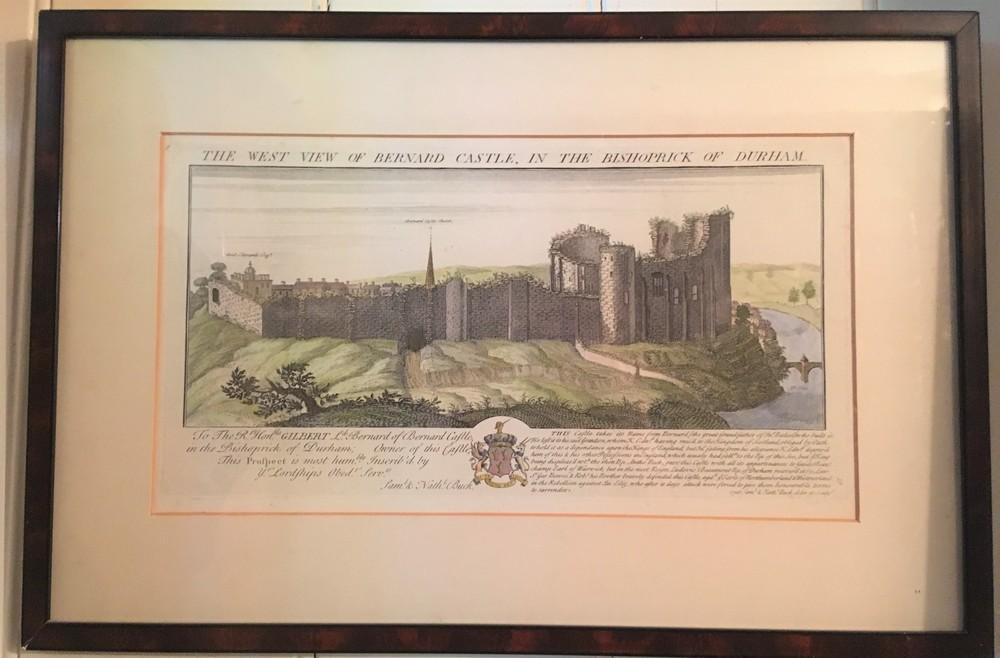 Gravure van Bernard Castle