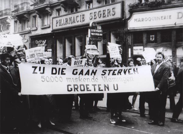 Jozef Deleu op de eerste Vlaamse Mars op Brussel