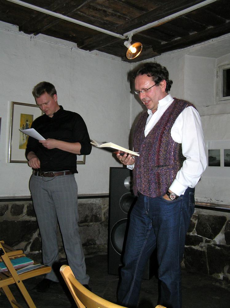 Luuk Gruwez en Noorse vertaler Ronny Spaans in Oslo
