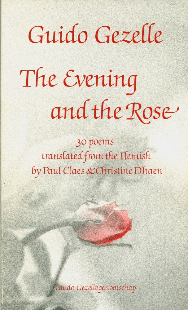 cover 'The evening and the rose'. Guido Gezelle vertaald naar het Engels