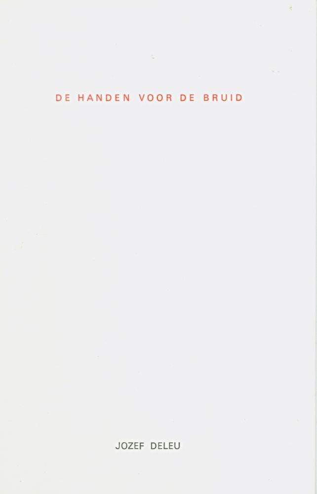 Cover De handen voor de bruid - Jozef Deleu