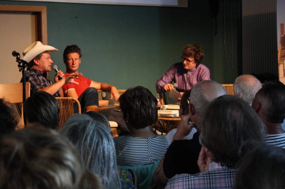 Christophe Vekeman & Wouter Deprez  op Apéro Poëzie #3 tijdens TAZ 2018