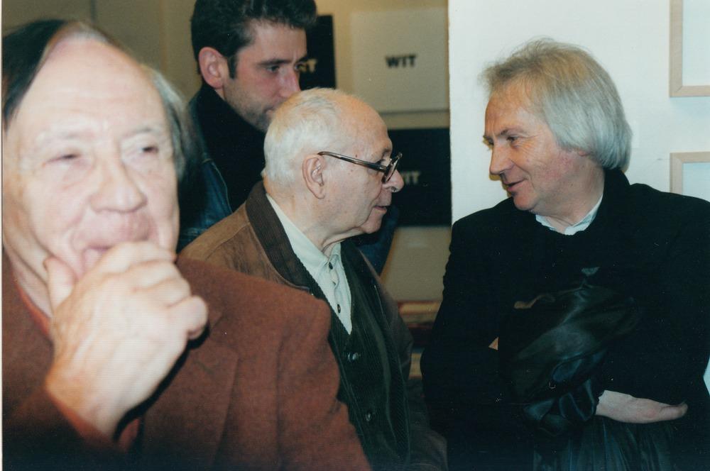 Paul de Wispelaere, Adriaan De Roover, René Franken en Willy Tibergien tijdens de opening van Visie Versa