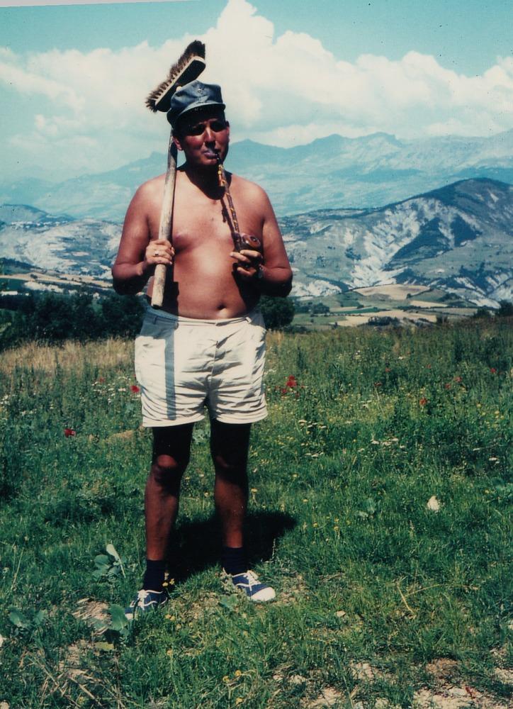 Vader Gruwez op vakantie in de Basses Alpes