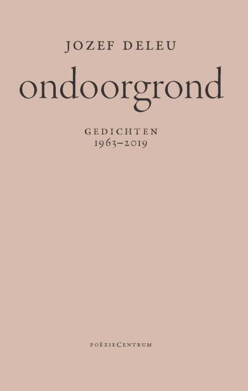Cover Ondoorgrond - Jozef Deleu