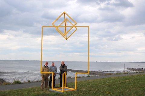 Werk van Renaat Ramon tijdens de 'Beelden op de Scheldeboulevard' in Terneuzen