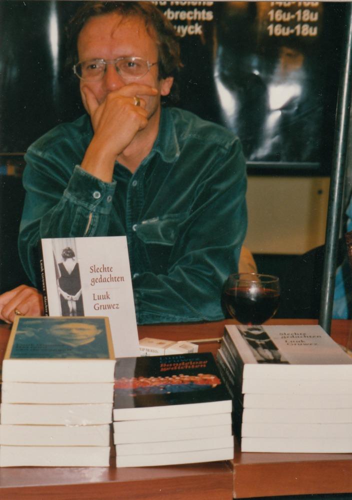 Luuk Gruwez op de Boekenbeurs, 1999