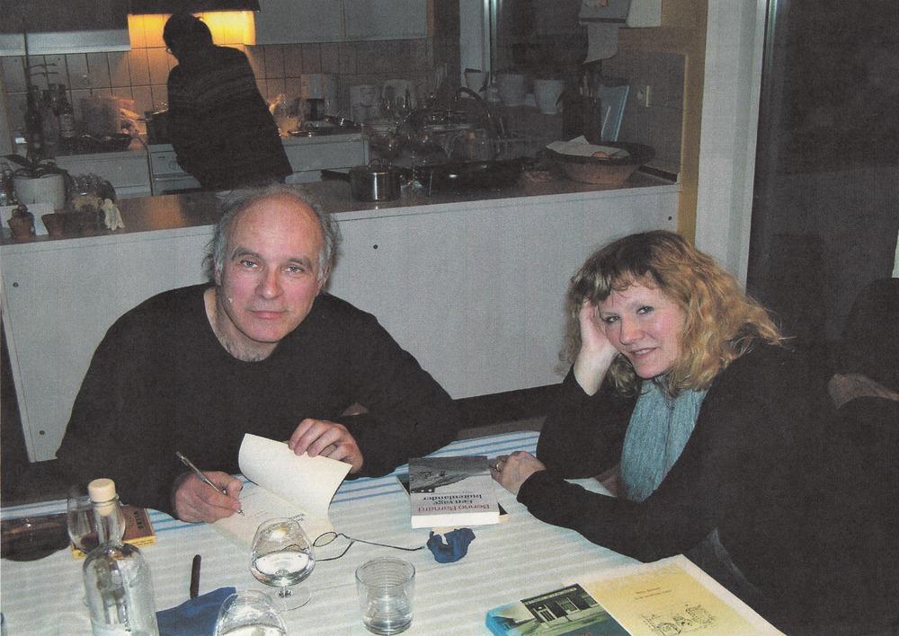 Benno Barnard en zijn vrouw op bezoek bij Luuk Gruwez