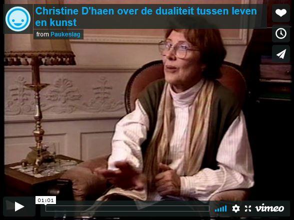 Christine D'haen over de dualiteit tussen leven en kunst