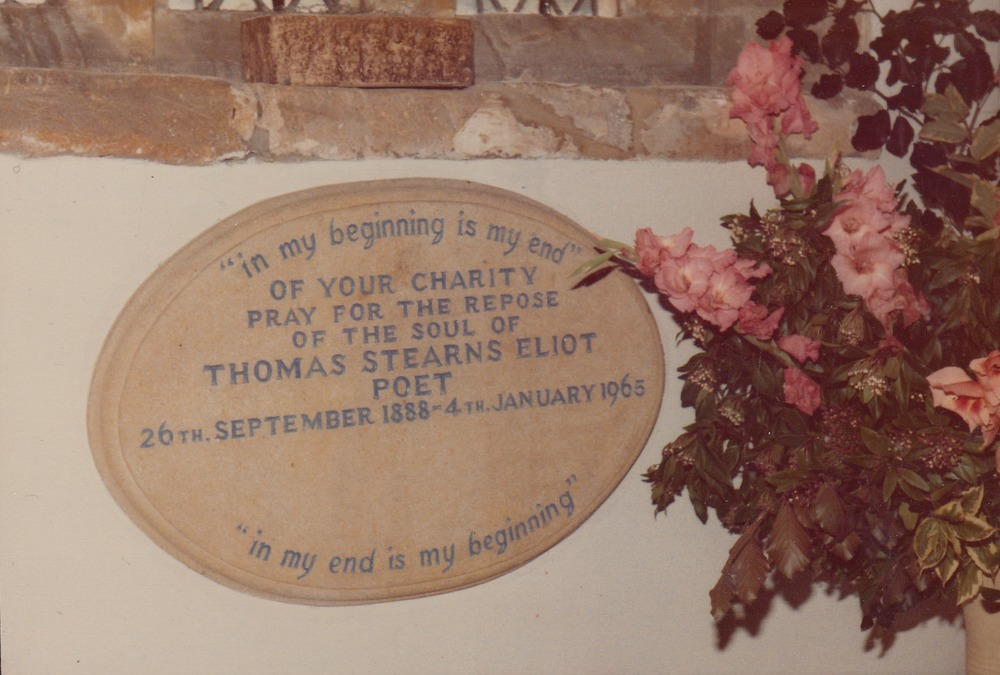 De grafplaat van T.S. Eliot
