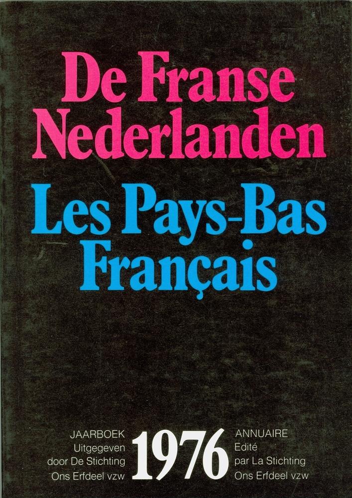 Cover jaarboek De Franse Nederlanden / Les Pays-Bas Français