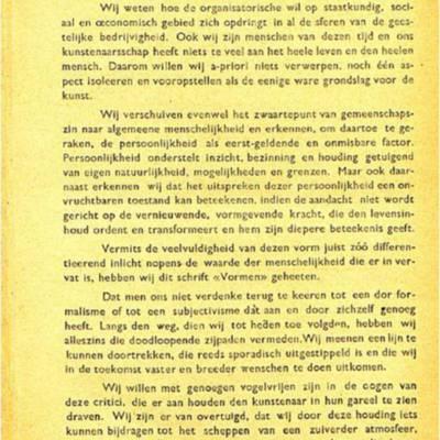 Eerste manifest Vormen