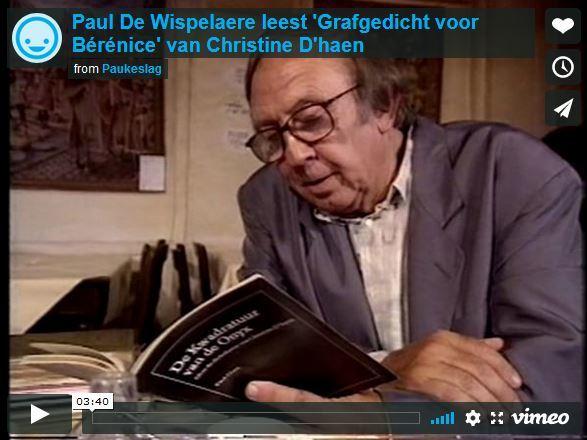 Paul De Wispelaere leest 'Grafgedicht voor Bérénice' van Christine D'haen
