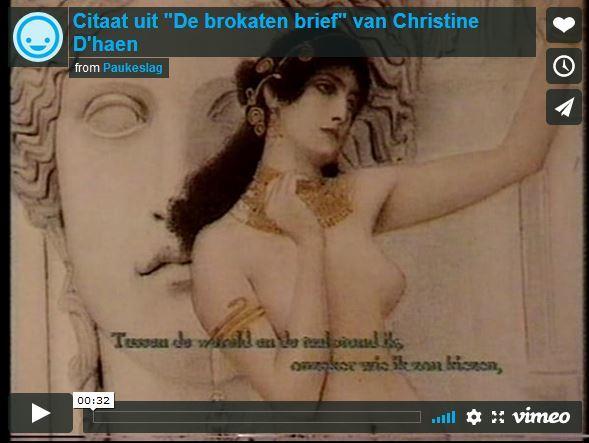 """Citaat uit """"De brokaten brief"""" van Christine D'haen"""