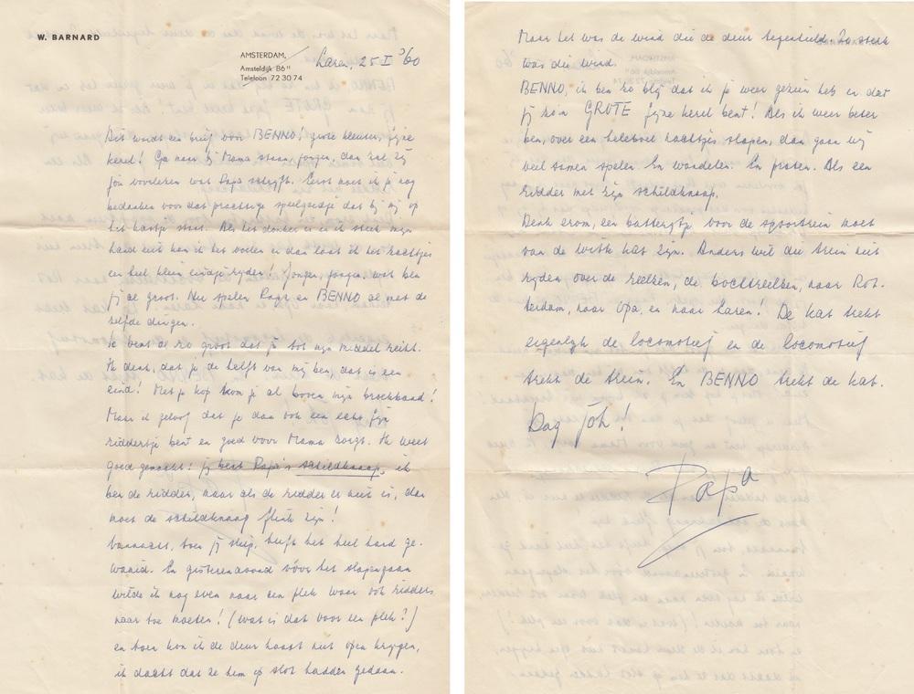 Brief van Willem Barnard vanuit het sanatorium