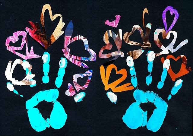 Collage 'Twee handen'