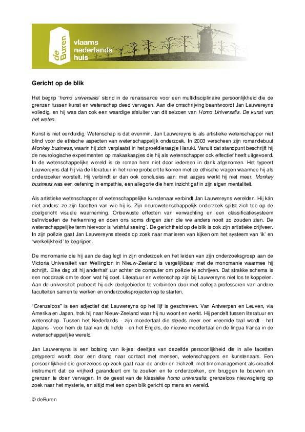 Gericht op de blik - Homo Universalis Jan Lauwereyns.pdf