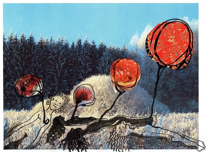 Collage 'Hartballon'