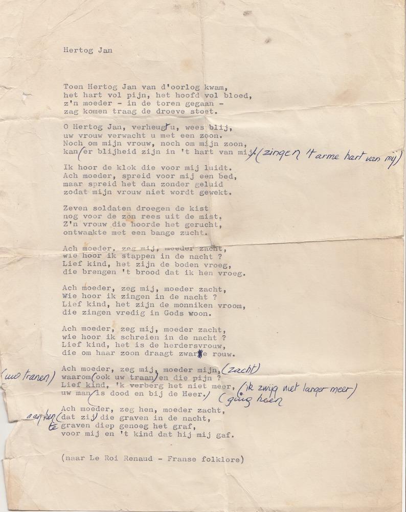 Gedicht 'Hertog Jan'