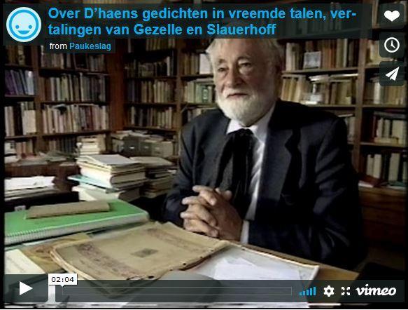 Over D'haens gedichten in vreemde talen, vertalingen van Gezelle en Slauerhoff