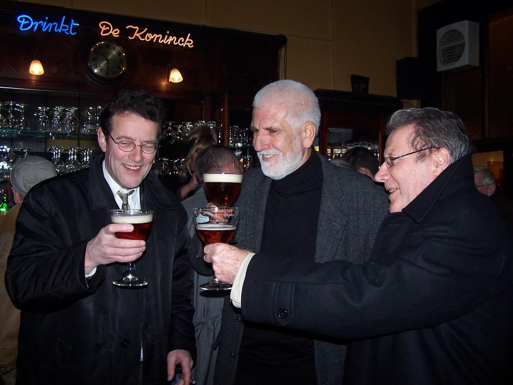Renaat Ramon met Hans Clavin en Klaus Peter Dencker