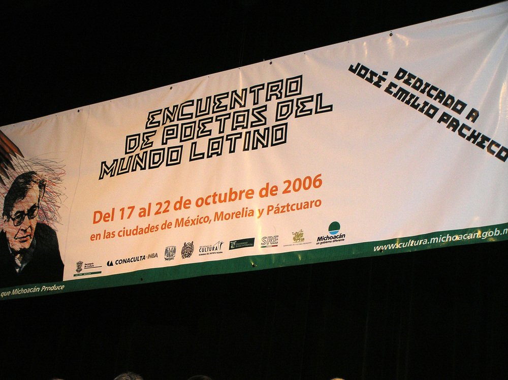 Luuk Gruwez  op het poëziefestival van Aguas Calientes, Mexico