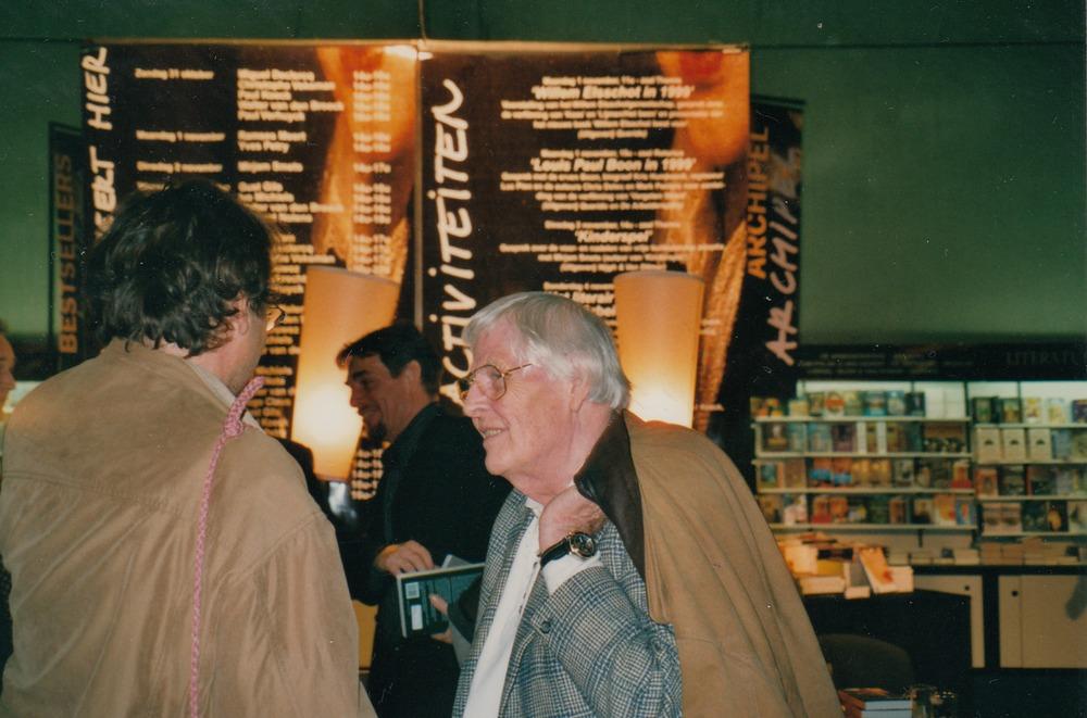 Luuk Gruwez en Ivo Michiels op de Boekenbeurs, 1999