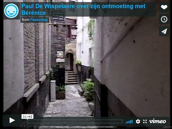 Paul De Wispelaere over zijn ontmoeting met Bérénice