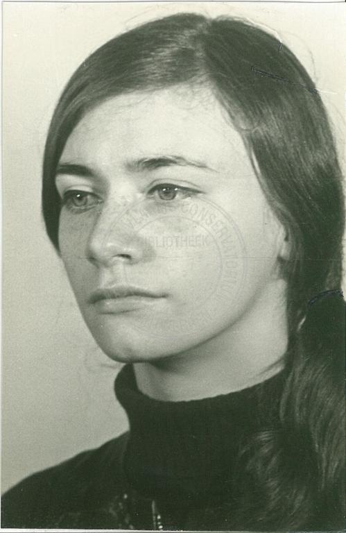 Frieda Pittoors: Promotiefoto 1968 Studio Herman Teirlinck