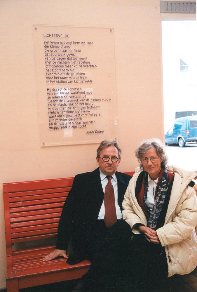 Gedicht van Jozef Deleu vereeuwigd in het station van Lichtervelde