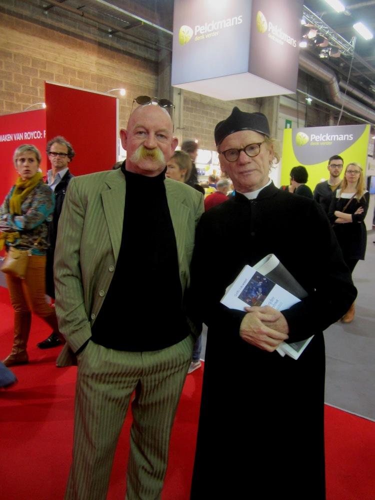 Bert Bevers en Guido Lauwaert, Boekenbeurs Antwerpen, 8 november 2012 (foto Lieve Vaningelmunster).JPG