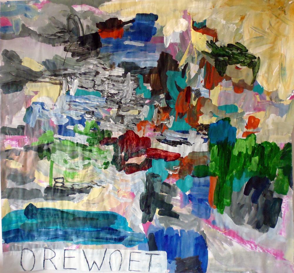 Schilderij 'Orewoet' door Sacha Eckes