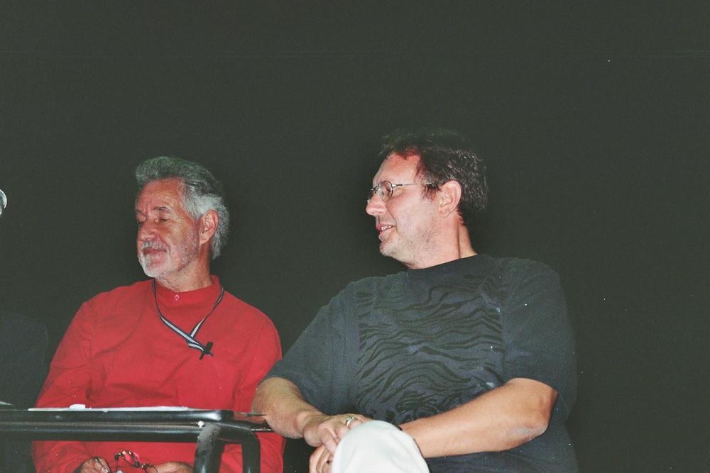 Luuk Gruwez en Breyten Breytenbach op het poëziefestival van medelin (2005)