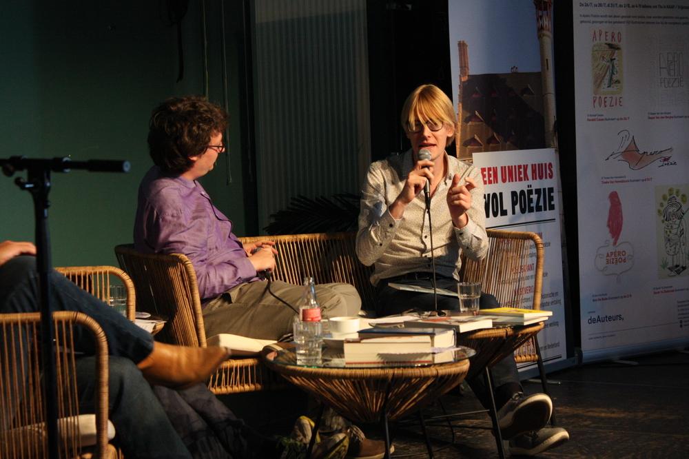 Laurens Ham & Carl De Strycker op Apéro Poëzie #3 tijdens TAZ 2018