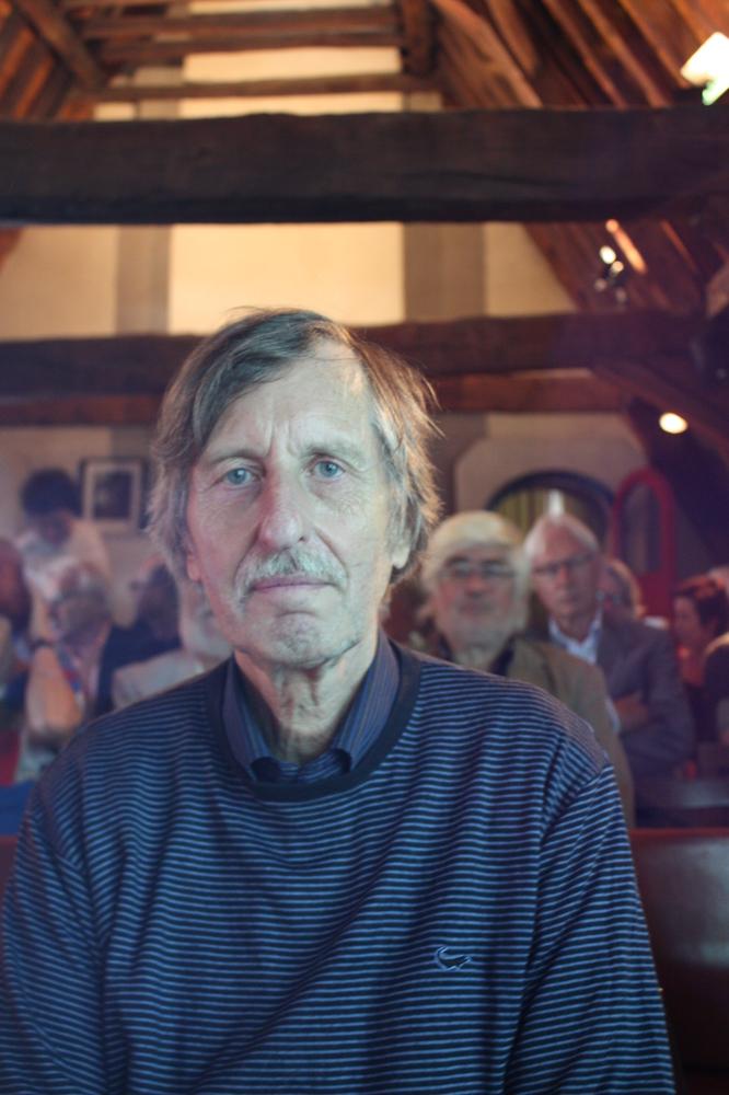 G.J. De Rook tijdens de boekvoorstelling van Renaat Ramons bundel Vorm en Visie