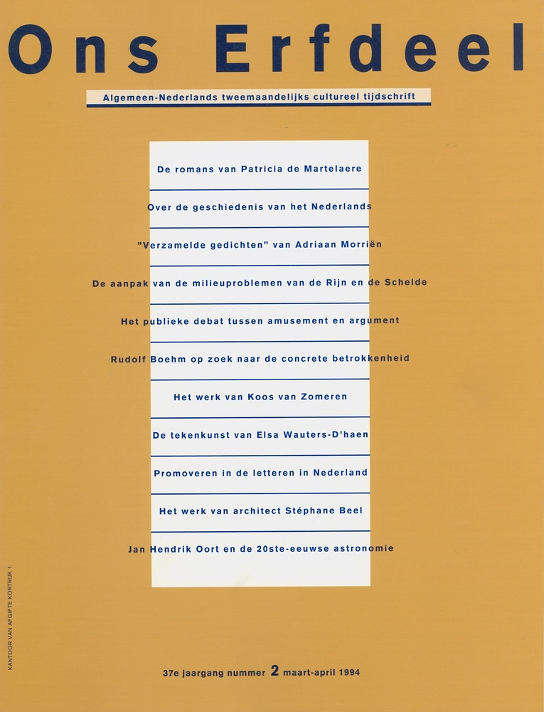 Covers tijdschrift Ons Erfdeel