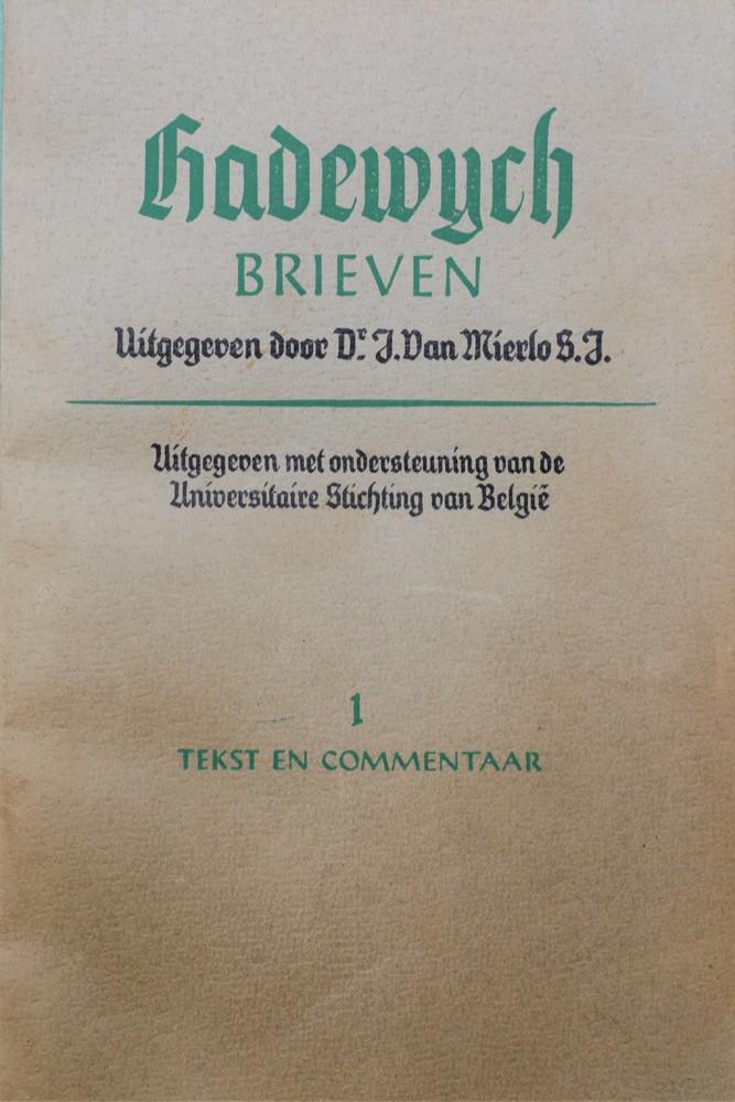 Hadewijch, Brieven (ed. J. van Mierlo) (1947)