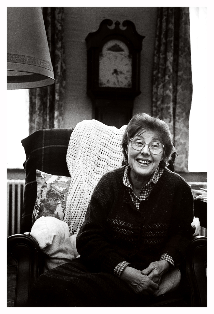 Christine D'haen thuis in Brugge, 1990