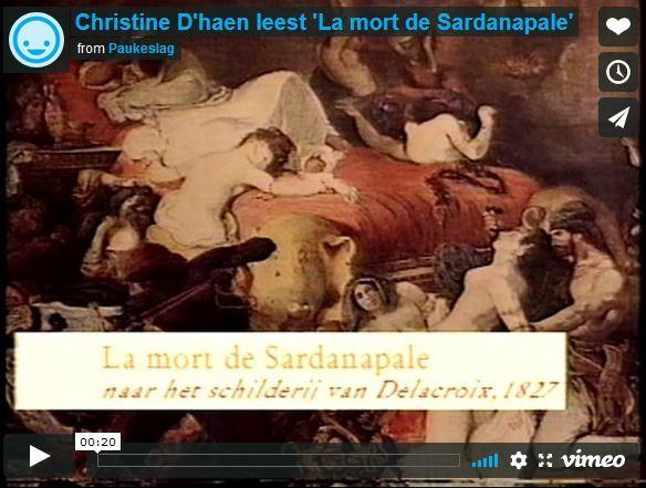 Christine D'haen leest 'La mort de Sardanapale'