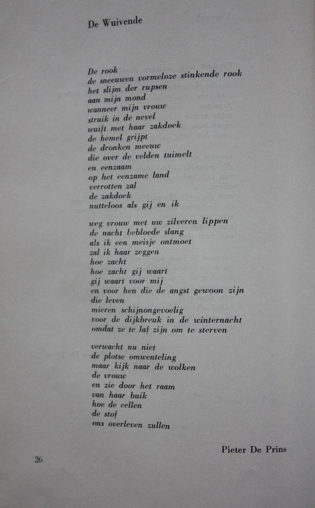 Gedicht 'De Wuivende' uit De Meridiaan - Pieter De Prins