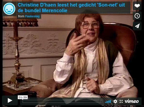 Christine D'haen leest het gedicht 'Son-net' uit de bundel Merencolie