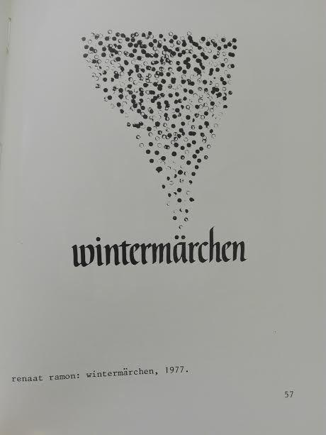 Visueel gedicht 'Wintermärchen' van Renaat Ramon