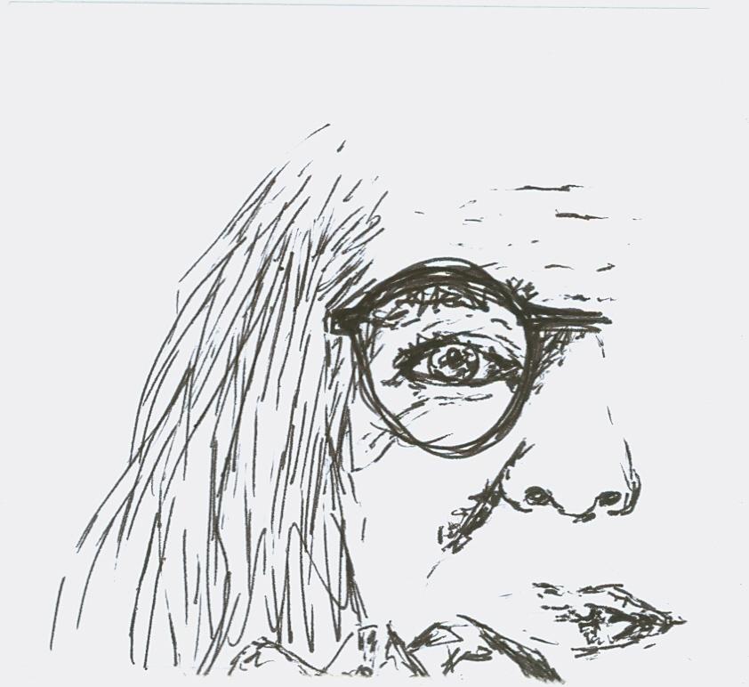 Pentekening van Antjie Krog